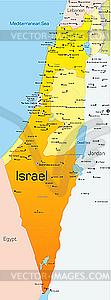 Landkarte von Israel - Stock-Clipart