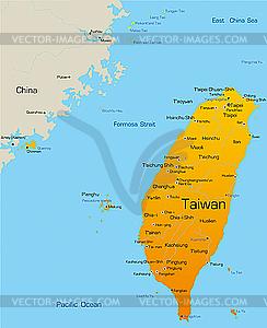 Taiwan - vektorisierte Grafik