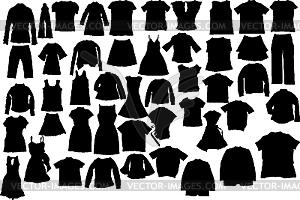Kleidung-Silhouetten - Vektorabbildung