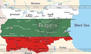 Landkarte von Bulgarien - Vector Clip Art