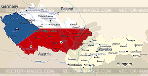 Tschechien - vektorisierte Abbildung