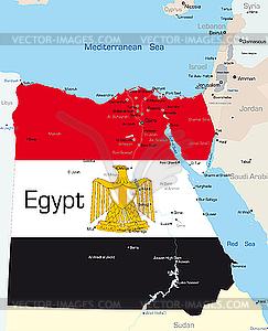 Ägypten - vektorisierte Abbildung