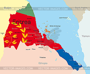 Eritrea - vektorisiertes Bild