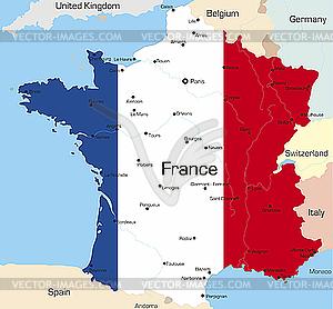 Frankreich - Vektorgrafik