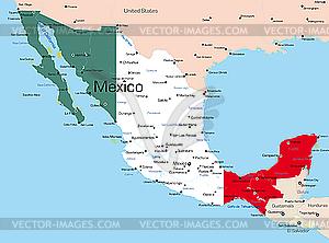Mexiko - Vector-Clipart