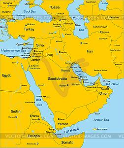 Land im Nahen Osten - Vector-Design