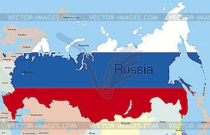 Russland - Vektorgrafik