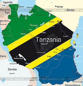 Tansania - Royalty-Free Clipart