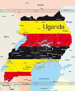 Uganda - Vector-Design