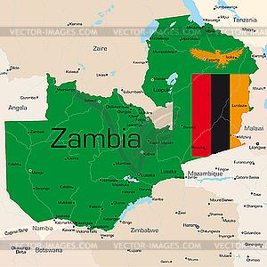 Sambia - Vektor-Bild
