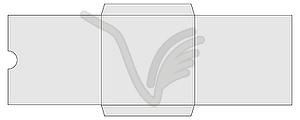 CD-oder DVD-Buch Ärmel - Stock Vektor-Bild