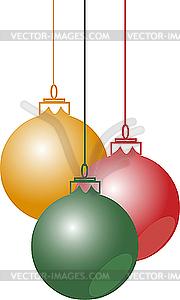 Weihnachtskugeln - Vektorgrafik