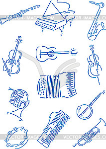 Musikinstrumente - Vector-Clipart EPS