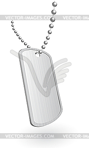 Militär-Aluminiumplatte - Vektor-Illustration