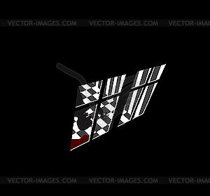 Vector Mörder im Haus - Stock Vektor-Bild