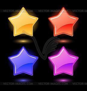 Set von glänzender Sterne - vektorisiertes Clip-Art