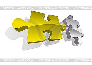Zwei Puzzleteile - vektorisiertes Design