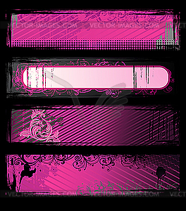 Rosa Grunge-Werbebanners - Vector-Clipart