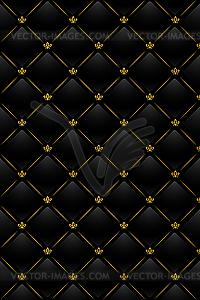 Schwarzer Leder-Hintergrund - Vector-Illustration
