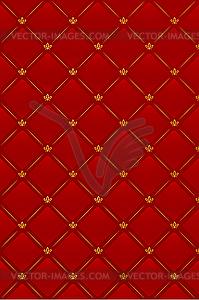 Roter Leder-Hintergrund - farbige Vektorgrafik