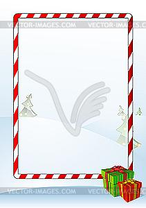 Weihnachts-Grußkarte - Stock Vektor-Bild