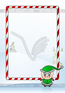 Weihnachts-Grußkarte - Stock-Clipart