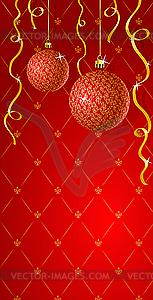Grußkarte mit Weihnachtsdekorationen - Vektor-Clipart EPS