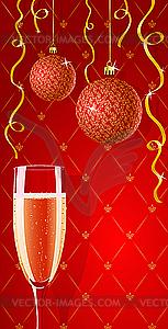 Glamour-Karte mit Champagner - Vector-Clipart / Vektor-Bild