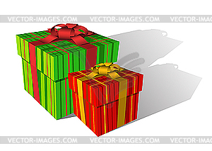 Zwei Geschenk-Boxen - vektorisierte Abbildung