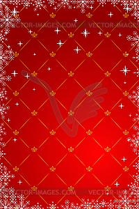 Красный новогодний фон - клипарт