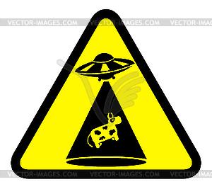 Zeichen der Kuh-Entführung - Clipart-Bild