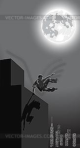 Nacht-Parkour in der Stadt - Vector-Bild