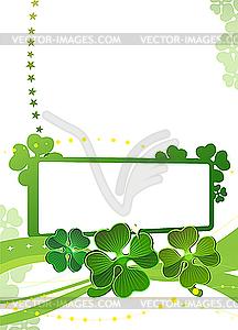 Blank mit grünen Kleeblätter - Vektor Clip Art