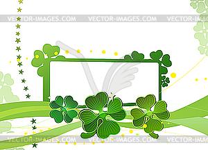 Blank mit grünen Kleeblätter - Vektor-Illustration