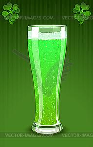 Grüner Bierglas - Clipart