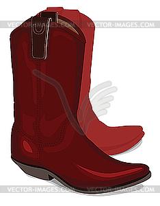 Cowboystiefel - Stock Vektor-Clipart