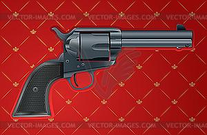 Pistole auf Rot - Vektor-Design
