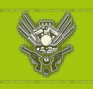 Grüne stilvolle Tapete - Vektor-Clipart / Vektor-Bild