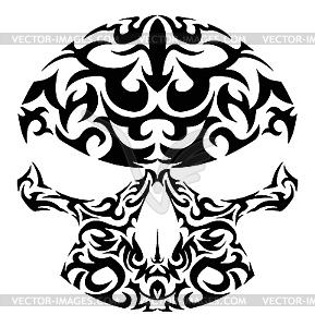 Schädel Tattoo - Vektor-Skizze