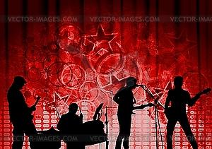 Rotes musikalisches Design - Vektor-Bild