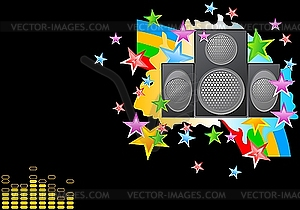 Musikalischer Hintergrund - Vektor-Illustration