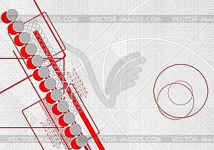 Hintergrund mit Kreisen und Pfeilen - Stock Vektor-Clipart