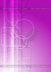 Rosige Quadrate und Kreise - Stock Vektor-Bild