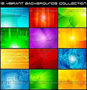 Set der hellen abstrakten Hintergründe - Vektor-Bild