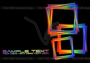 Hintergrund mit irisierenden Quadraten - Vektor-Clipart / Vektorgrafik