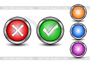Web-Buttons - vektorisierte Grafik