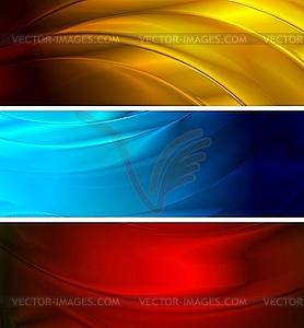 Einfache wellige Werbebanner - Vektor-Clipart EPS