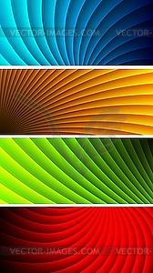 Einfache Werbebanner - farbige Vektorgrafik