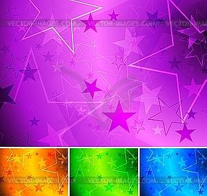 Hintergründe mit Sternen - Vector-Clipart