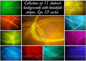 Abstrakte Hintergründe-Sammlung - Vektor Clip Art